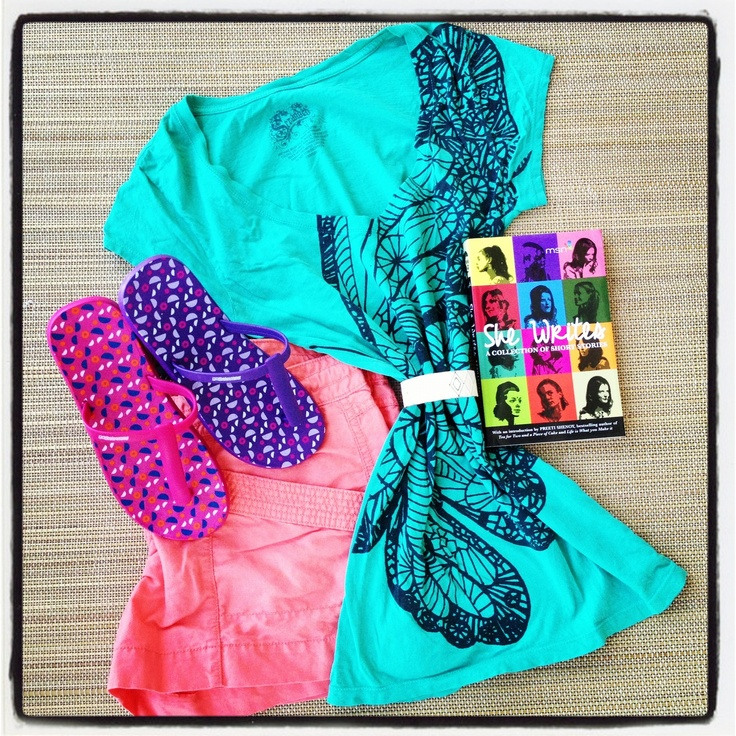 Pair your t-strap GoBahamas with a colorful pair of shorts and tee!