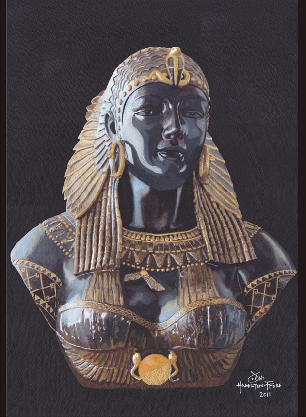 Portrait Cleopatra Vii By Jon Hamilton Fford Art And