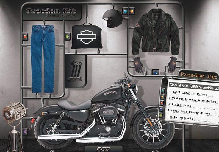 """Harley-Davidson Italia lancia l'iniziativa """"Freedom kit""""  La filiale italiana della Casa di Milwaukee lancia una nuova iniziativa dal nome """"Freedom Kit"""". La formula è semplice: acquisti un nuovo modello Sportster883 (Iron 883, 883R o SuperLow)e accedi, ad un prezzo speciale, al Freedom Kit, che , in sintesi è un kit essenziale del perfetto biker: giacc..."""