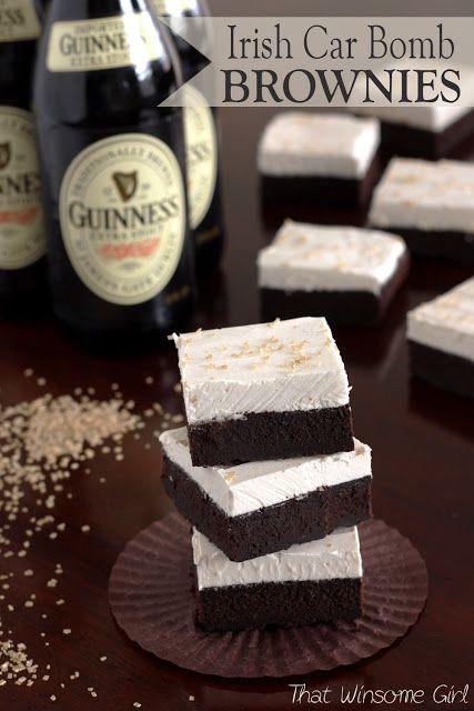 That Winsome Girl: Irish Car Bomb Brownies