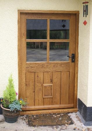 Extra Wide Oak Door