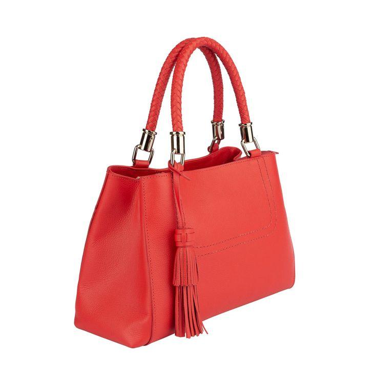 Bolso Bellaniz Mirian Cuero Rojo