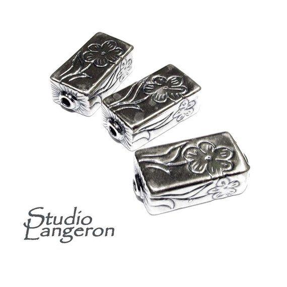 <b>925 sterling silver</b> handmade <b>beads</b> BS 14, handmade, silver <b>beads</b> ...