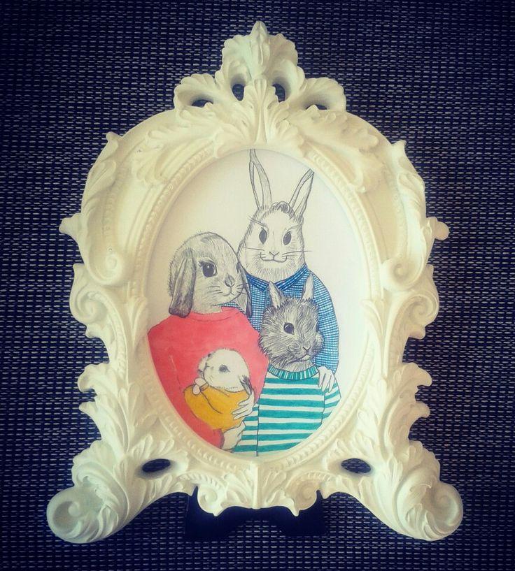 Lovely rabbits family!  Sígueme en fcbk! / littleno ♡