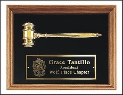 Walnut Frame w/ gold metal gavel SALE $99.00. - Greek Clothing and Merchandise - Greek Gear®