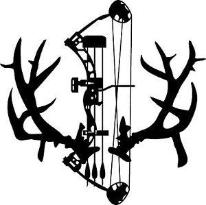 Non Typical Mule Deer Rack Antlers Decal Compund Bow Arrow Archery ...