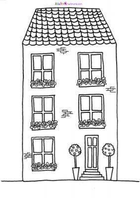houses and gardens pictures to print colour netmums - Houses To Colour In