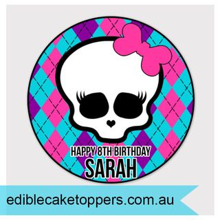 Round Edible Monster High CaKe Topper Image. YUM  Making Cakes EASY