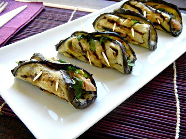 DOLCEmente SALATO: Involtini di melanzane con tonno e rucola