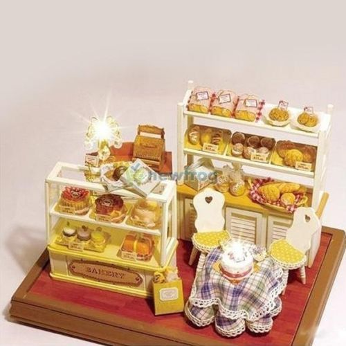 SN9F Dollhouse Miniature DIY KIT DIY Bread Cake Bakery Store Shop Education TOY   eBay