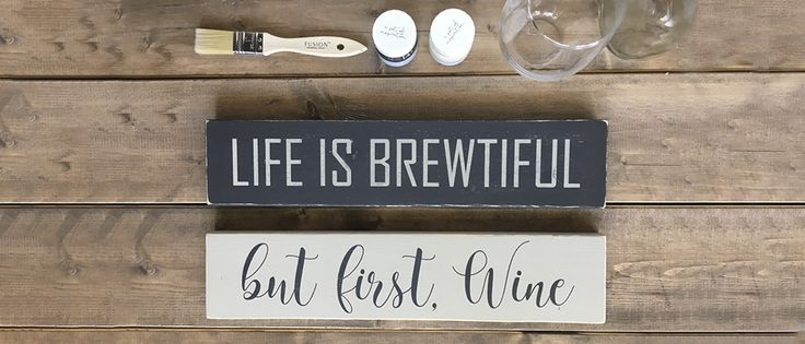 """Join us with Jacqueline from Homeworks Etc. in making these farmhouse style wooden signs (both measuring 4"""" x 16"""" each). What a fantastic Christmas gift to..."""
