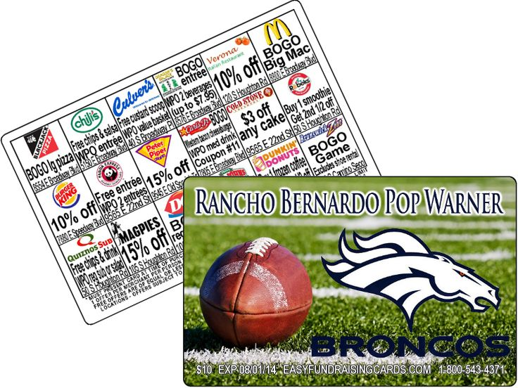 Pop Warner Football Fundraising Cards for Pop Warner Tackle Football Equipment - Junior Midget Football - Pop Warner Midget - Pee Wee Fundraiser - Junior Pee Wee Football fundraisers - Mitey Mite Football card fund raiser - Jr. Mitey Mite fundraising Ideas and the number one use for these fundraiser cards High School Football fundraising cards