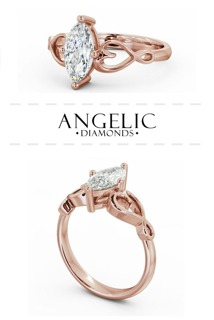 Stand out for all the right reasons with this stunning rose gold marquise engagement ring. Find your perfect diamond engagement ring with #AngelicDiamonds. #Engaged #Engagement #Wedding #EngagementRing #RoseGold #RoseGoldRing #Diamond #Diamonds #DiamondRing #WeddingJewellery #WeddingJewelry #DiamondJewellery #DiamondJewelry #RoseGoldJewellery #RoseGoldJewelry