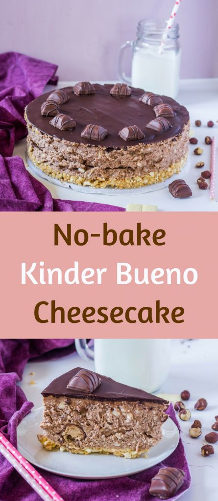 Simple and divinely tasteful No bake Kinder Bueno Cheesecake without the need of real Kinder Bueno