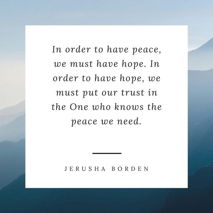 Finding peace, hope, encouragement for Christians