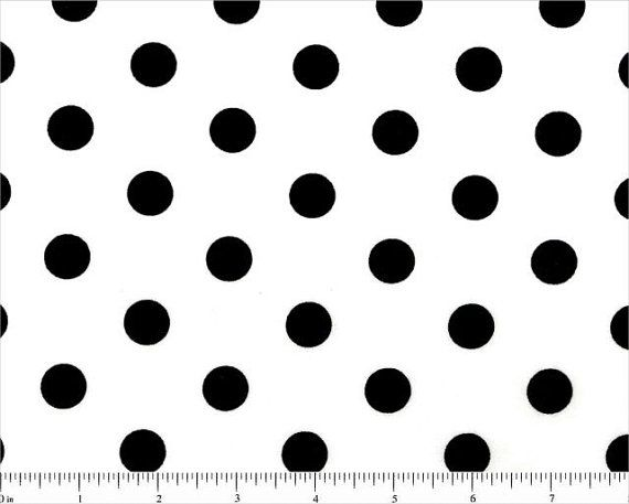 White and black polka dot cotton fabric by fabricsbydad on