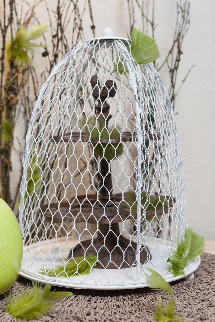 Shabby Chic Spring Collection, White Decorative Cages available NOW