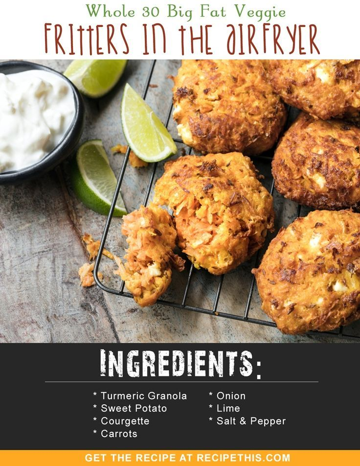 Whole 30 | Whole 30 Big Fat Veggie Fritters In The ...