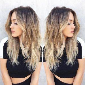 Blonde-Balayage-Hairstyle-Dark-Brown-to-Blonde