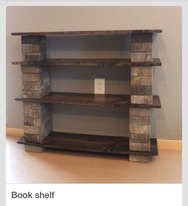 super simple concept for a great (and sturdy) homemade bookshelf.