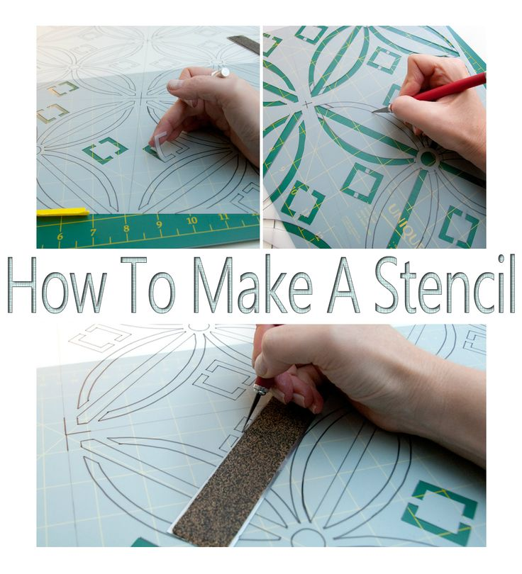 Salvaged Inspirations | How To Make A Stencil... No Costly Gadgets Required or artistic skills needed -  Simply print out a pattern/design, transfer and cut out. This tutorial is so easy to follow!