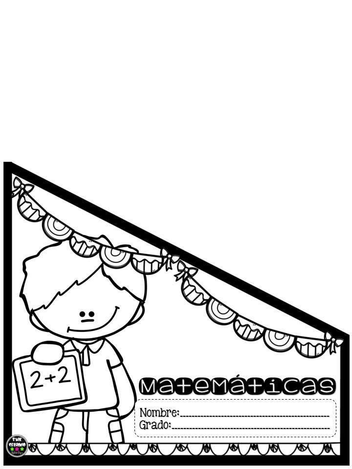 Fantásticos Y Bonitos Diseños De Etiquetas O Portadas Para Folders Para Co Caratulas Para Cuadernos Escolares Matematicas Para Colorear Portadas De Matematicas