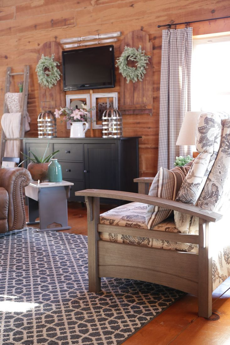 Living Room In a Log Home Furniture Style Farmhouse Style Log