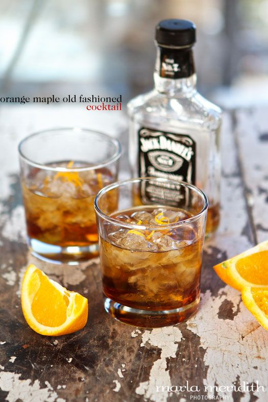 Orange Maple Old-Fashioned Cocktail   A Whiskey Lover's Drink   FamilyFreshCooking.com