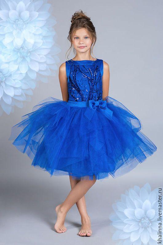 Elegant dress for girl   Одежда для девочек, ручной работы. Ярмарка Мастеров - ручная работа. Купить Платье синее пышное нарядное. Handmade. Синий