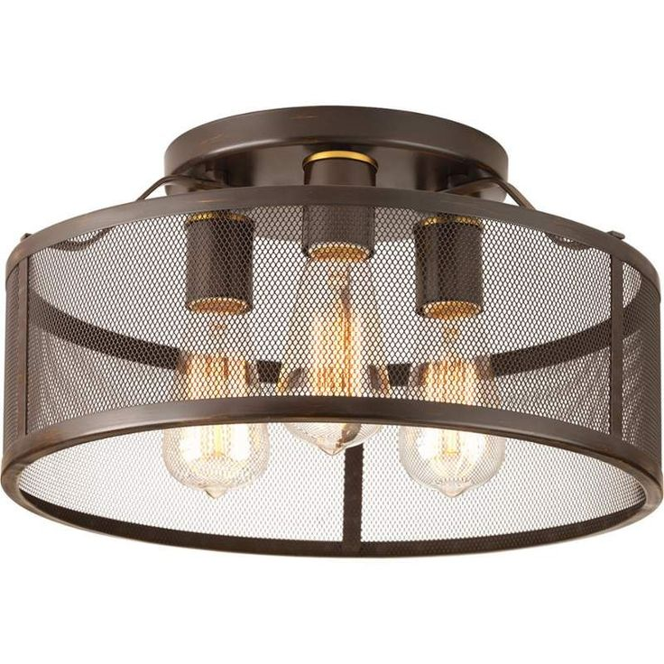 """View the Progress Lighting P3452 Swing Flush Mount Ceiling Fixture with 3 Lights - 15"""" Wide at Build.com."""