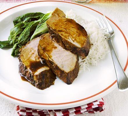 Sticky pork. 165 kcalories