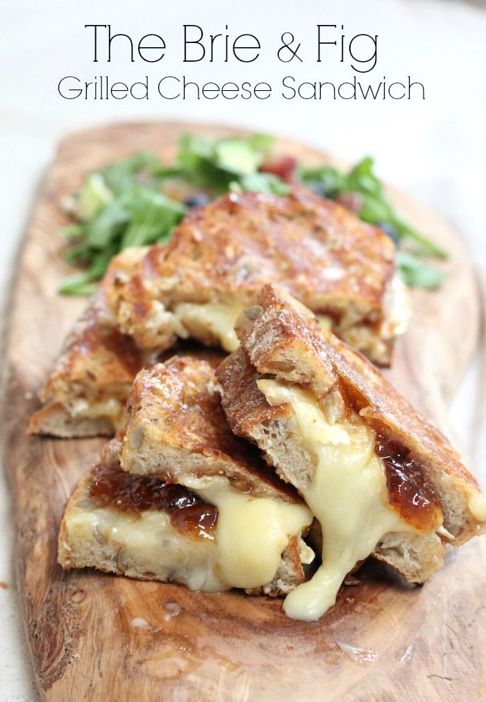 Brie and Fig Grilled Cheese   The Organic Kitchen Blog and Tutorials