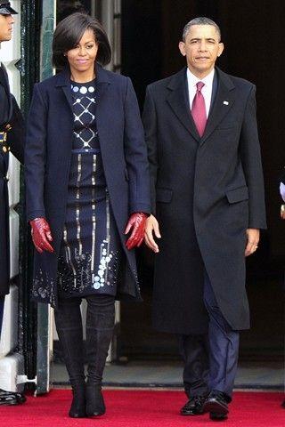 На приеме, посвященном китайскому президенту Мишель Обама надела Alexander McQueen