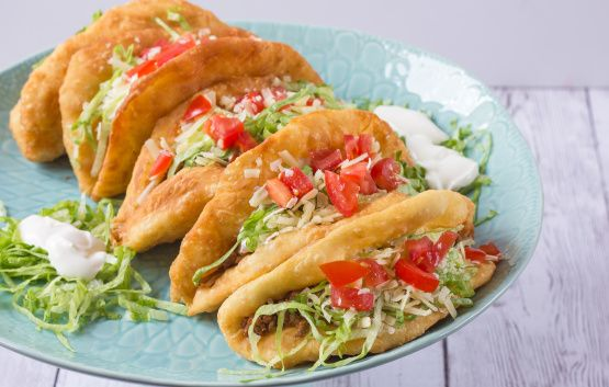 Taco Bell Chalupa Copycat Recipe - Deep-fried.Food.com going to try this using an alternate recipe to make it gluten free... I really miss chalupas