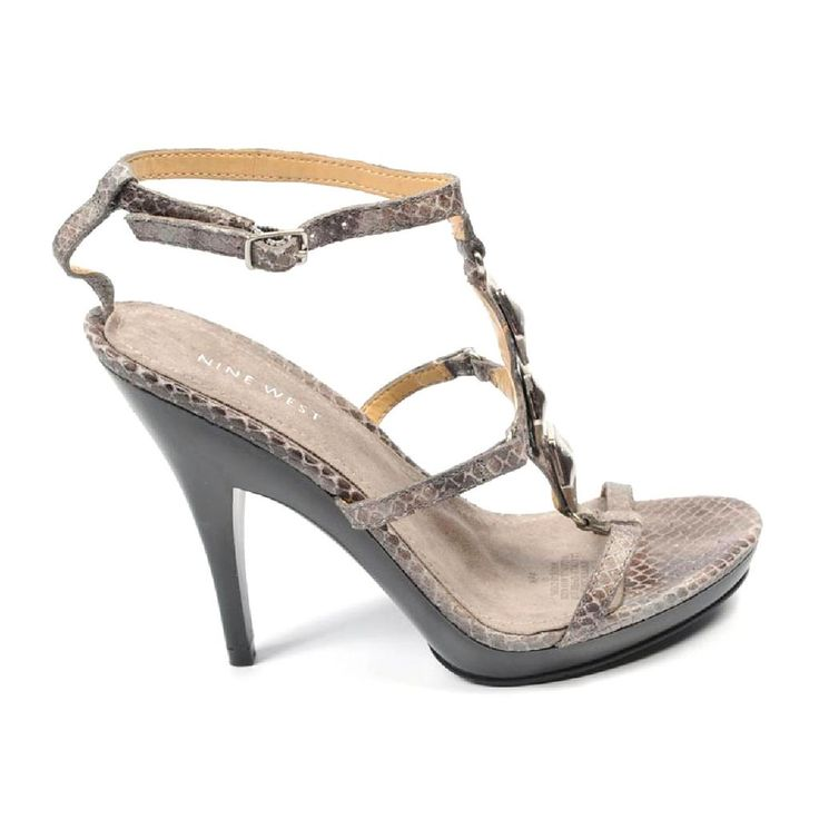 00d92eae7577 Nine West Womens Ankle Strap Sandal Nwvencentio Brown Multi