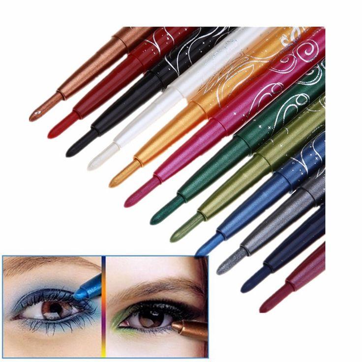 12 kleuren Make langdurige Waterdichte Glitter Oogschaduw pen EyeLiner Potlood Set Cosmetica beauty tool kit