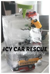 Ice Car Rescue Ice Melt Science Sensory Play                                                                                                                                                                                 More