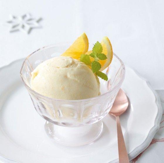 Orangen-Mascarpone-Eis