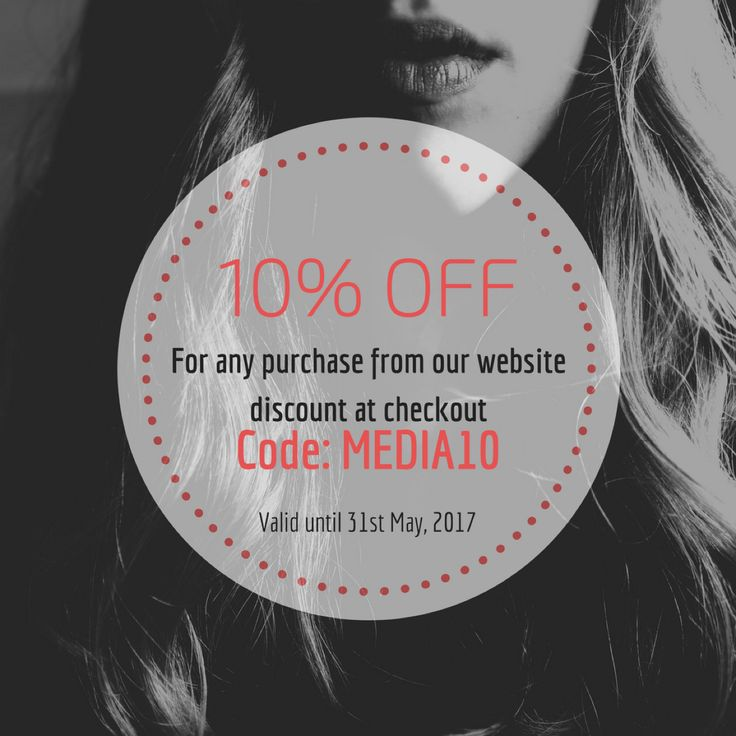 Receive 10% off Haircare  use code Media10 at Checkout  — Receive 10% off already discounted Haircare items  use code Media10 at Checkout  Valid to 31st May 2017