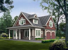 Cute Cottage Escape - 2392JD   2nd Floor Master Suite, CAD Available, Carriage, Corner Lot, Cottage, Loft, Narrow Lot, Northwest, PDF, Vacation   Architectural Designs
