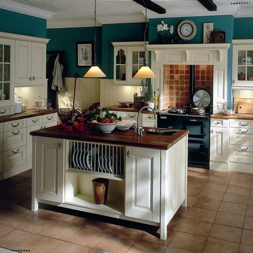 black and white with turquoise kitchen  Google Search More
