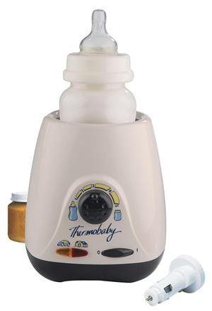 Incalzitor pentru biberon si borcanel care poate fi utilizat atat acasa , cat si la priza pentru bricheta din masina; este foarte practic si pentru calatorii. Produs fabricat in Franta.