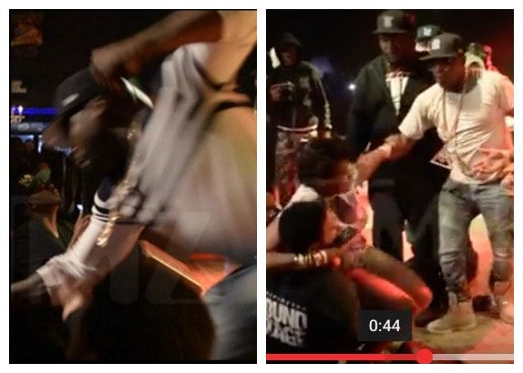 WTH! Watch How 50 Cent Punches Super Aggressive Female Fan In The Crowd (Photos/Video)