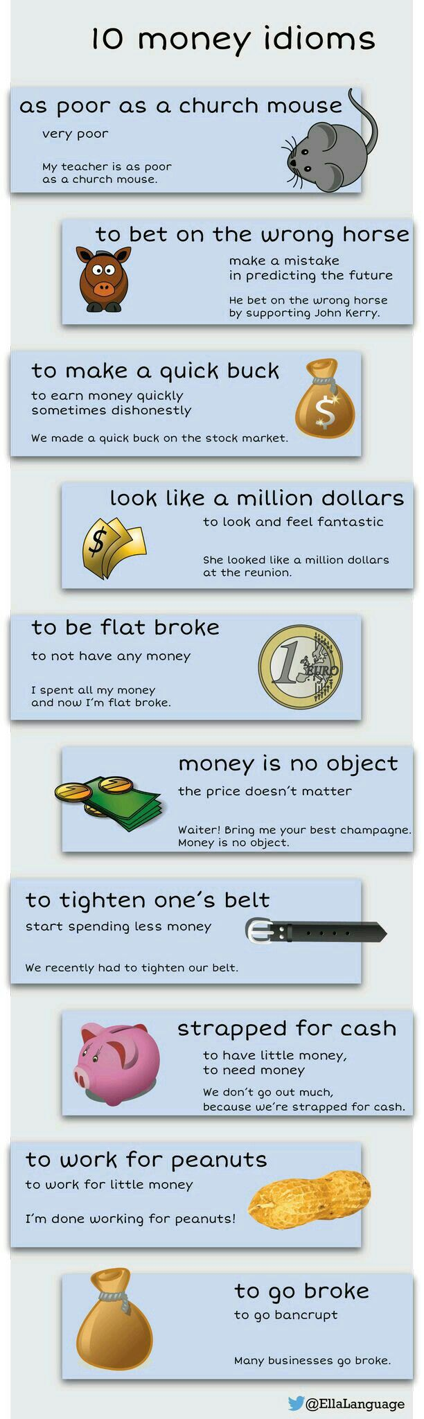 Best English Idioms Images On Pinterest  English Idioms   Money Idioms  Learn And Improve Your English Language With Our Free  Classes Call Karen Luceti Or Email Kluceti To Register For Classes