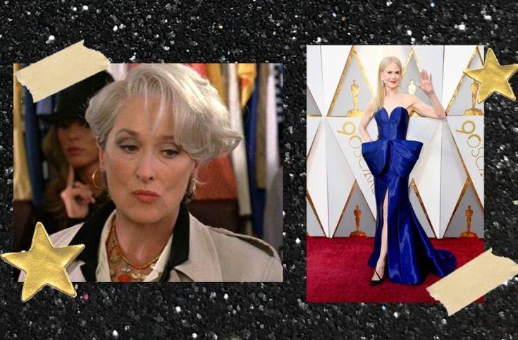 Nicole Kidman llevó a los Oscar el mismo vestido que Miranda Priestley odiaba en DWP