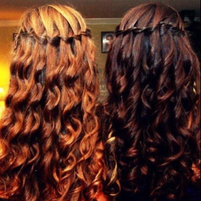Waterfall braid!!!  I wish MY Hair would hold something like that.