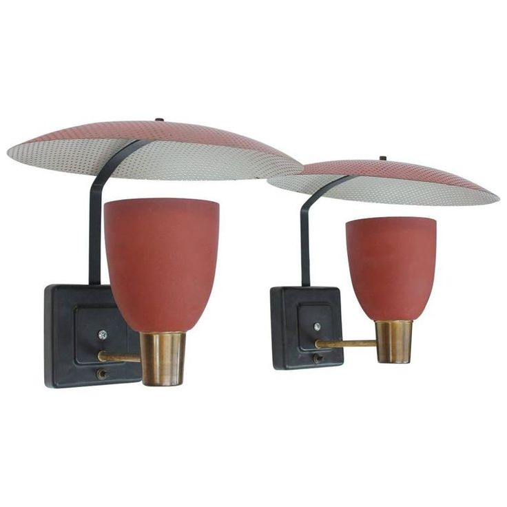 French Midcentury Wall Sconces | From a unique collection of antique and modern wall lights and sconces at https://www.1stdibs.com/furniture/lighting/sconces-wall-lights/