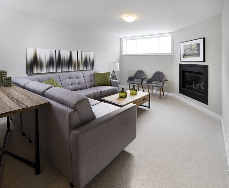 This is the included finished basement in the  Diamond townhome model in Ottawa South at our Findlay Creek community.