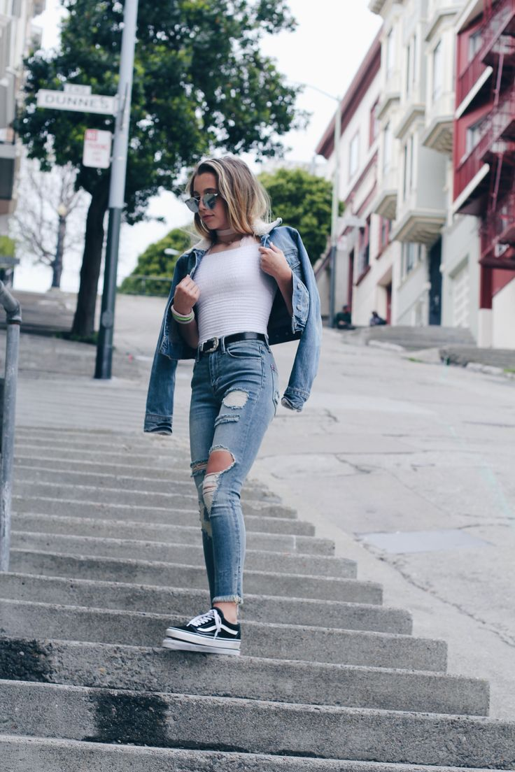 The 25+ best Black vans outfit ideas on Pinterest | Denim outfits Casual outfits and Simple outfits