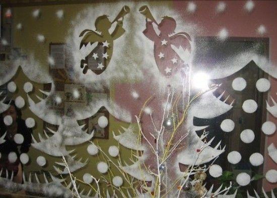 рисунки на окнах на новый год - Поиск в Google